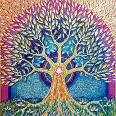 tree of life blue